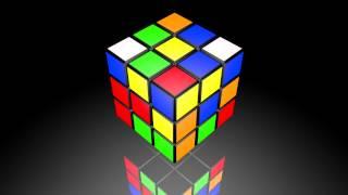 Animated 3D Rubik's Cube