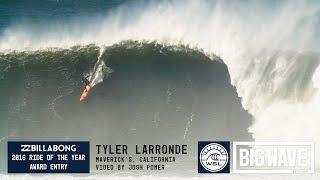 Tyler Larronde at Maverick's - 2016 Billabong Ride of the Year Entry - WSL Big Wave Awards