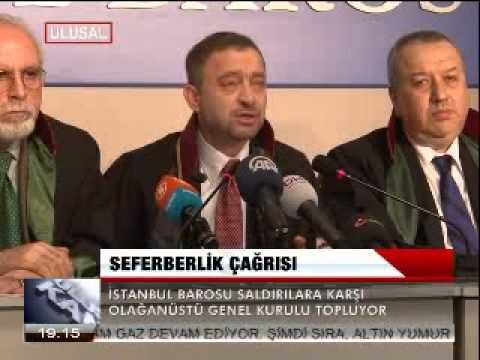 İSTANBUL BAROSU'NDAN SEFERBERLİK ÇAĞRISI