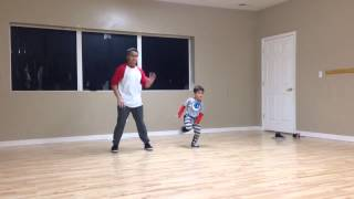 Little Kid Dances To Bruno Mars Uptown Funk Choreography