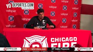Dolor: Veljko Paunovic Chicago Fire 1-1 New England Revolution