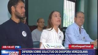 Difieren sobre solicitud de diaspora venezolana de un plan de regularización para compatriotas