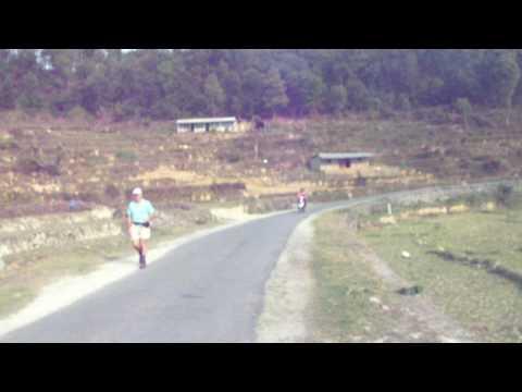 Clo on  a Motorbike in Pokhara – Nepal