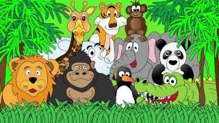 Animals at the Zoo - Animal Sounds - Learn the Sounds Zoo Animals Make