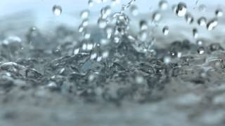 Rainfall Slow Motion HD Heavy Rain Drops Falling in Slow Mo Video View of Droplets Hitting Water