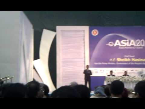 Opening of eAsia 2001 in Dhaka