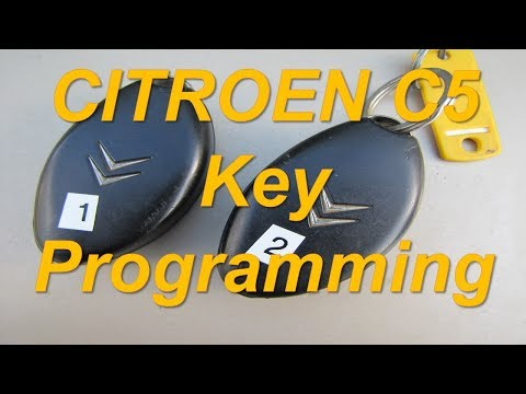 ... C5 How to Program Keys with Lexia 3 ... Remote Key Fob Reprogramming Key Chip Recode
