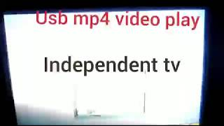 Independent tv usb play mp4
