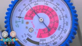 Presión Refrigerante R410A a 28°C Temperatura Ambiente