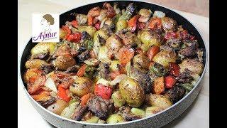 Blitzrezept I Kalbfleisch Kebab mit Babykartoffeln I Sütdanali patates kebabi I Ofengerichte