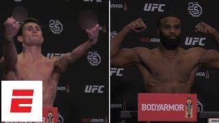 Darren Till, Tyron Woodley make weight, and Till flips off cameras | UFC 228 | ESPN
