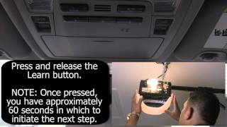 Toyota HomeLink Programming - Chamberlain Garage Doors with QuickTrain video poster
