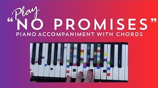How to Sing Play No Promises - Demi Lovato Cheat Codes | Easy Piano Chord Lesson | IVOREEZ