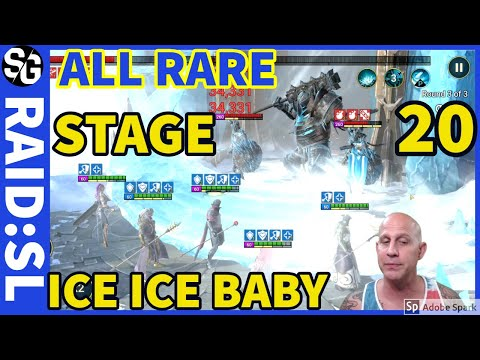 [RAID SHADOW LEGENDS] ALL RARE ICE GOLEM 20