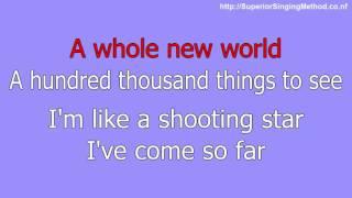 Disney Karaoke Aladdin - A Whole New World (Lyrics and Instrumental)