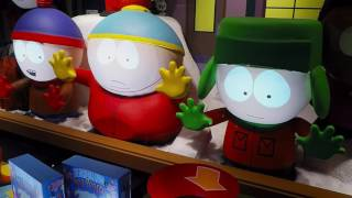 Barney's Holiday Windows, South Park and Love Boat, December 2016 in 2k