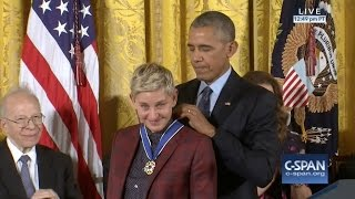 Ellen DeGeneres Medal of Freedom Award 11-22-16