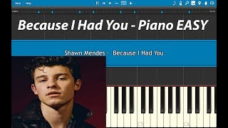 Shawn Mendes - Because I Had You Piano Tutorial (EASY) Piano Cover