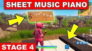 """Play the Sheet Music at the Piano near Retail Row"" LOCATION WEEK 6 CHALLENGE Fortnite Season 6"