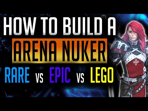RAID: Shadow Legends | How to build to nuke the arena? Who hits harder, Rares, Epics or Legendaries?