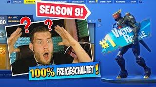 neuer season 9 battle pass in fortnite 100 freigeschaltet - neuer battle pass fortnite