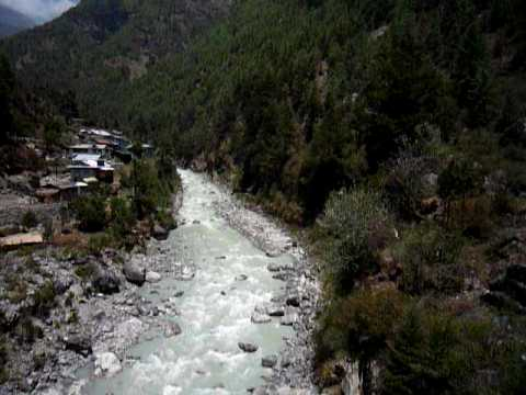 Crossing the Dudh Koshi