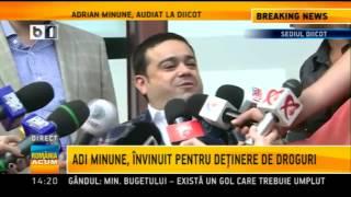 Adi Minune, invinuit pentru detinere de droguri