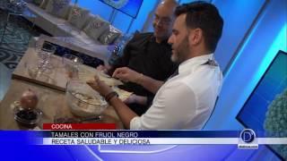 El Chef Eddie Garza nos dice como preparar tamales con frijol negro. Receta fácil y saludable
