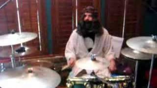 Jesus plays Drums