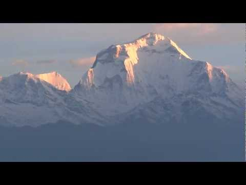 At Poon Hill, Sunrise Viewing of Dhoulagiri and Annapurna Ranges in Nepal