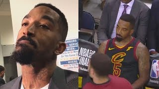 "JR Smith Explains What Happened At The End Of Game 1 Of 2018 NBA Finals ""I Knew The Game Was Tied"""