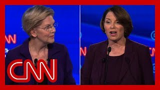 Klobuchar clashes with Warren on health care: There's a difference between a plan and a pipe dream