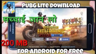 how to download pubg mobile andoird lite |how to dwonlod pub g 200 mb|