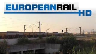 Comboios de Portugal CP Porto 3400 EMU exits the northern portal of the Espinho Station Tunnel