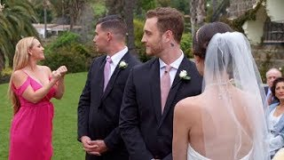 Curb Your Enthusiasm - Big tits is distracting at Sammi's wedding