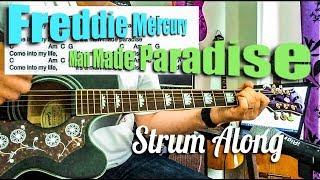 Man Made Paradise - Freddie Mercury - Guitar Play Along Chords