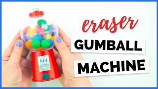 DIY Mini Eraser Gumball Machine | DIY Back to School