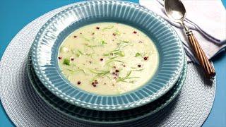 Sopa de couve-flor e alho-poró
