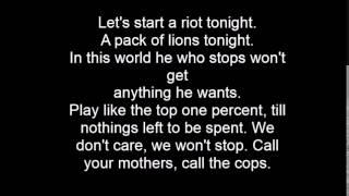 Gavin DeGraw - Fire lyrics on screen