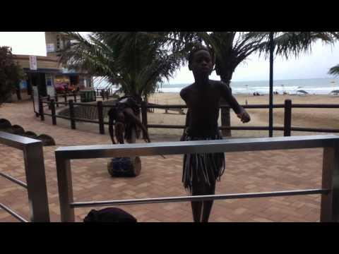 Zulu boys performing
