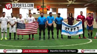 Ceremonia Final Deportivo Cano vs CD Vagos Liga Interamericana en Chitown Futbol