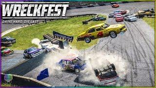 Jumping Figure 8 Madness! | Wreckfest | NASCAR Legends Mod