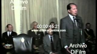 DiFilm - Humberto Romero recomposicion salarial fuerzas armadas 1990
