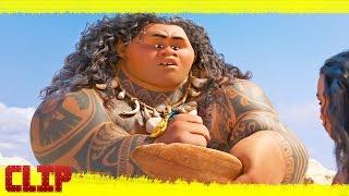 "Vaiana Disney Clip ""Moana conoce a Maui"" Español"