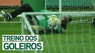 Um dia de treino com os goleiros do Palmeiras