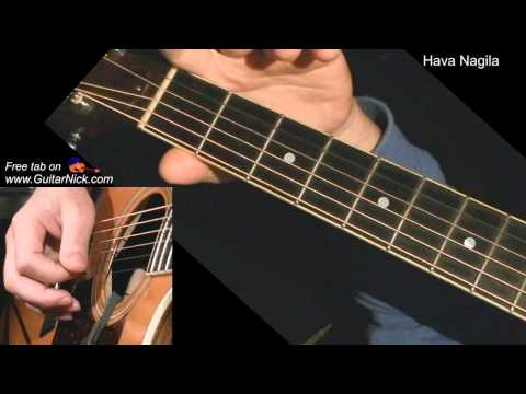 Hava Nagila + TAB! Acoustic guitar lesson, learn to play Chords ...