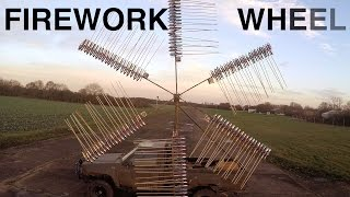 Giant Rocket Powered Firework Wheel