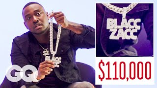 Blacc Zacc Shows Off His Insane Jewelry Collection | On the Rocks | GQ