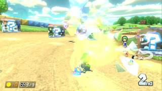 DONUT PLAINS 3 ~ ONLINE RACE ~ HAILSTONE SPINACH - MARIO KART 8 DELUXE - NO COMMENTARY
