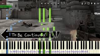 To Be Continued meme Song Piano Tutorial (Synthesia Cover)